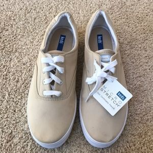 Keds SZ 10 light beige Andie micro stretch shoes